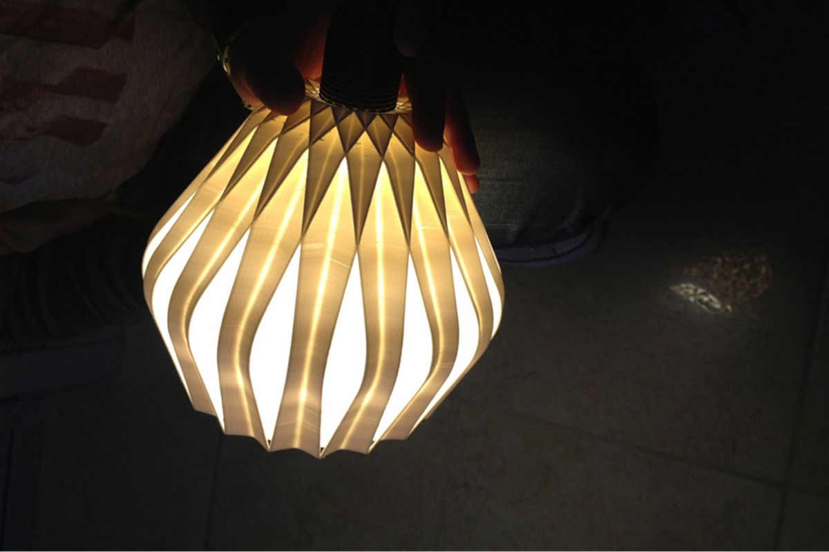IVL up-cycling lamp #1 prototype